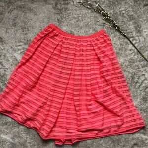 Anthropologie Watermelon Colored Skirt w/ Pockets